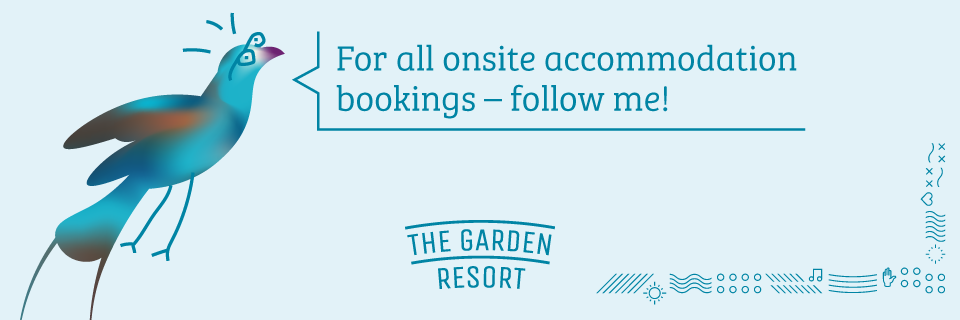 For all onsite accommodation bookings - follow me